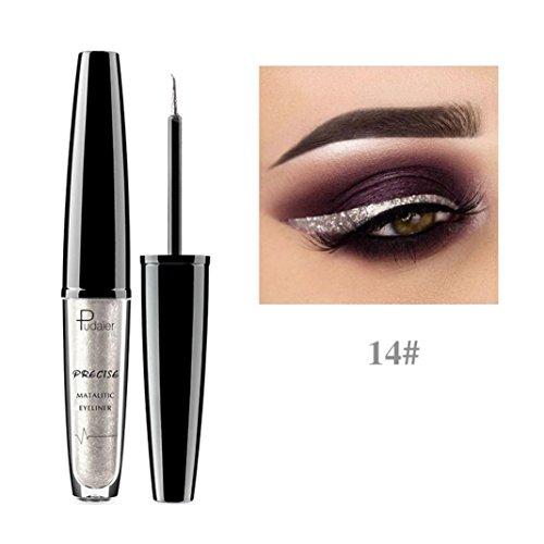 Metallic Shiny Smoky Eyes Lidschatten Wasserdicht Glitter Liquid Eyeliner von 12shage (N)