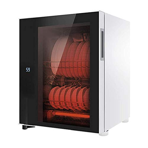 YangJ Mini-Desktop-Küchen-Desinfektionsschrank, vertikale Hochtemperatur-Teetassen-Isolierbox für den Haushalt, Touchscreen-Steuerung, gehärtetes Doppelschichtglas