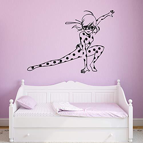 GJQFJBS Cartoon mädchen wohnkultur wandaufkleber wohnzimmer schlafzimmer wand hintergrund kunst aufkleber A2 43 cm X 63 cm