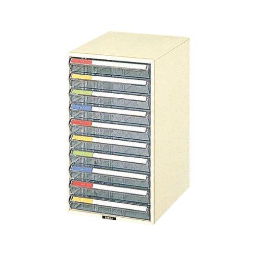 ナカバヤシ レターケース 書類収納 A4 浅10段 アイボリー LC-10P