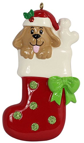 MAXORA Personalized Ornament Dog Stocking Presents for Christmas