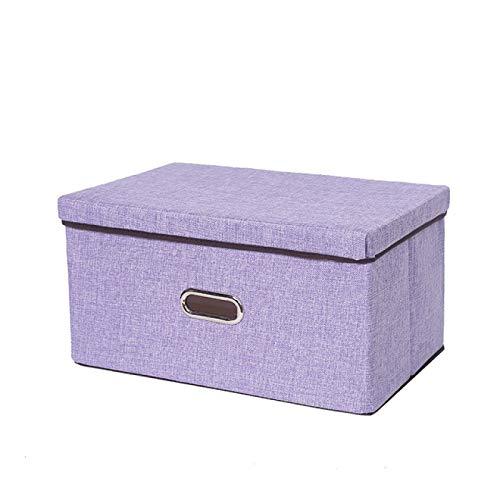 FSSQYLLX Spielzeugkiste Große Baumwoll- und Leinentuchkunst Faltbare Aufbewahrungsbox Kinderspielzeug Aufbewahrungsbox Familienschublade Aufbewahrungsbox