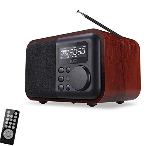 HVW Radio Retro FM, Playr Multifuncional de Bluetooth portátil, Tarjeta TF AUX U Dish Card USB Card CONPOSTABLE MP3 3.5mm Jack de Audio con Pantalla LCD Pantalla,A