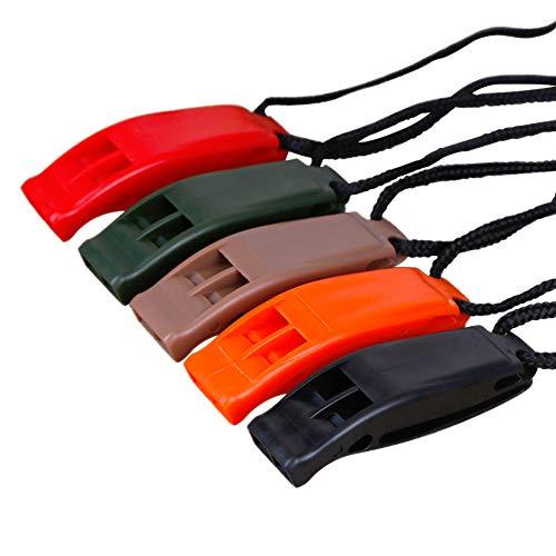 REYOK 10pcs Pfeife Doppelten Frequenz Sicherheit Signalpfeife Outdoor Survival