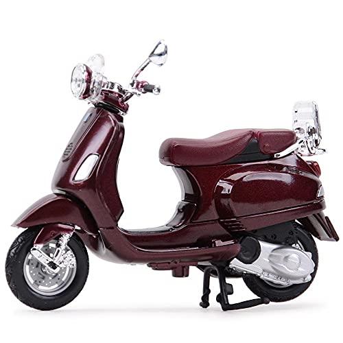 Modelo de juguete de motocicleta 1:18 para Piaggio Vespa Estado Estado Vehículos Cast Collectible Hobbies Motorcycle Model Toys Roman Holiday Recolection Regalos Modelo de motocicleta ( Color : 9 )