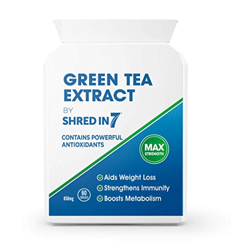 Green Tea Capsules | Powerful Cleansing | Premium Green Tea Extract | Safe & Legal EU Formula | UK Made with Pride in Cambridge