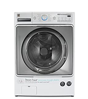 Kenmore 41072 White Cubic Feet Steam Treat, Accela Wash Elite 5.2 cu. ft. Front Load Washer (B074C245CK) | Amazon price tracker / tracking, Amazon price history charts, Amazon price watches, Amazon price drop alerts