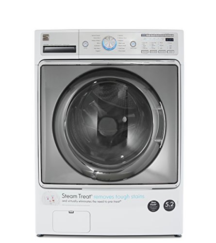 Kenmore 41072 White Cubic Feet Steam Treat, Accela Wash Elite 5.2 cu. ft. Front Load Washer