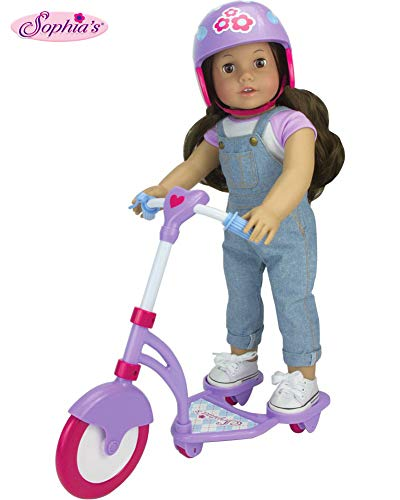 Sophia's Doll Scooter & Helmet Set Made, 18' Dolls Accessories Fit for American Girl Dolls, 2 PC. Doll Helmet & Scooter Set, 18' Doll Furniture