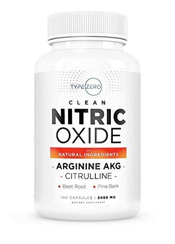 Clean Nitric Oxide Supplement [2450mg] L Arginine L Citrulline Beetroot Supplement Natural Nitric Oxide Booster w/Pine Bark & Garlic; Nitric Oxide Pills for Men Blood Flow Muscle Building Supplements