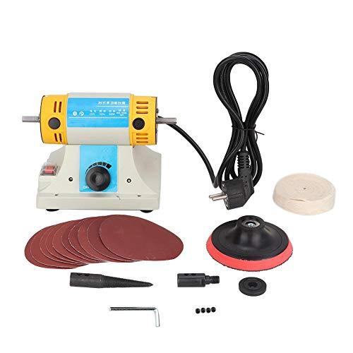 Amoladora mesa multifuncional, mini amoladora eléctrica DIY máquina grabado escritorio para carpintería herramienta corte eléctrico pulido cincel alta velocidad 10000rpm(EU Plug 220V)