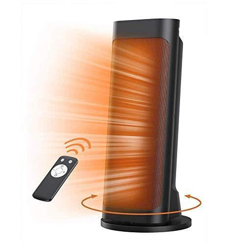 Chauffage, Chaufferette Portable, 1500W Quiet Rapide Chauffe-Tour en céramique avec Le Mode de Oscillant Thermostat programmable Télécommande ECO 12H Affichage LED minuterie.