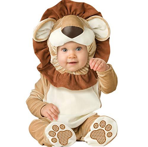 ALLAIBB Bebé niño Disfraz de Mameluco 3D de Cosplay de Disfraz de Animal 6-30M