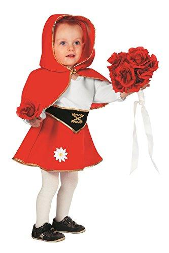 Jannes - Kinder-Kostüm Rotkäppchen, rot weiß, Kleinkinder 92