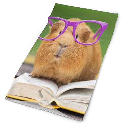 Love Lovely Fun Guinea Pig Reading Book Balaclava Womens Bandana Mens Balaclava,Neck Warmer,Face Mask,Headwear Headwrap