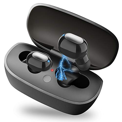 Bluetooth Earbuds, Mini in-Ear Wireless Headset 30 Hours Playing Invisible Earpiece with Micphone and Charger Case, Bluetooth 5.0 Wireless Earphone