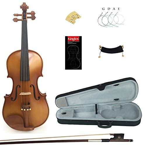 Kinglos 1/2 In Legno Massello Alunno Acustico Violino Kit - PJA1003