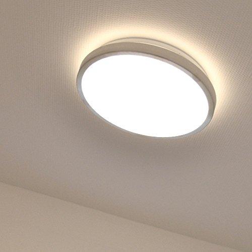 Licht-Trend LED-Deckenleuchte Lona Ø 30 cm 984 Lumen Deckenlampe Alu-matt