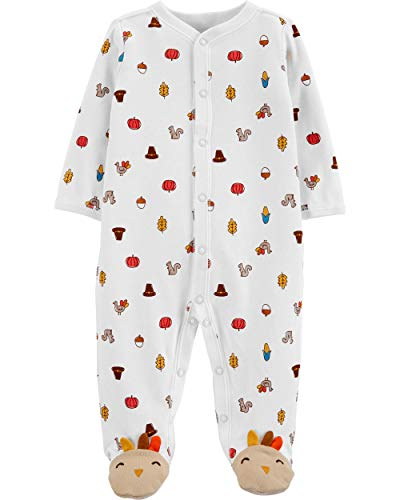 Carter's Unisex Baby Thanksgiving Day Sleep & Play (9 Months, Heather)