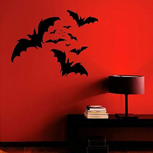 JUDING Bat Group Adesivo murale Animale Vinile Interior Design Artista Decorazioni per la casa Adesivo Camera da Letto Murale Carta da Parati Halloween 74x57cm