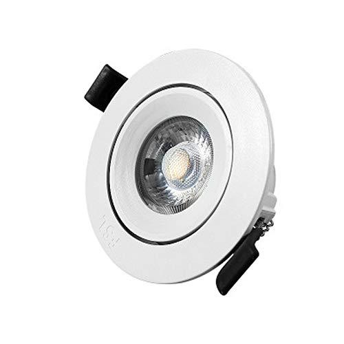 BANNAB Focos empotrables, Focos empotrables de iluminación LED, Lámparas empotrables en el Techo, Se utilizan para techos, Tres Tipos de focos de 5,8 cm