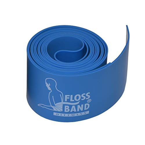 Dittmann Floss Band 2 m :: Flossing Band blau 1,0 mm / 5 cm breit :: Flossband Kompressionsband