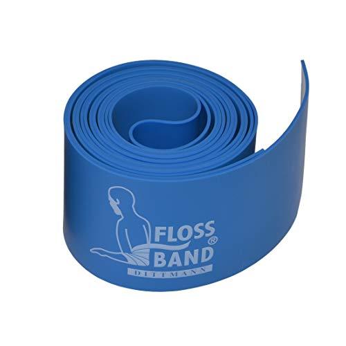 Dittmann Floss Band 2 m :: Flossing Band blau 1,0 mm / 5 cm breit :: Flossband Kompressionsband