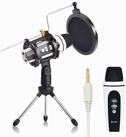 Remall Mini Condenser Microphone for Kids and Adults with Tripod Stand and Pop Filter Singing product image