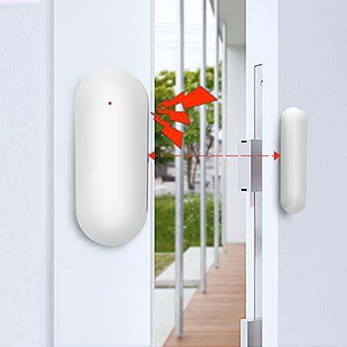 PGST Sensori Porta Finestre WiFi, Allarme Porta, Allarme Casa Funziona con Apricancello Alexa Tuya Google Home, Può essere Utilizzato Indipendentemente o Collegato All'host di Allarme