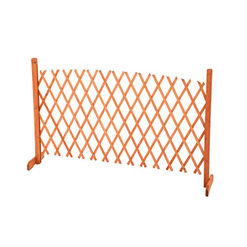 Oypla Arched Expanding Freestanding Wooden Trellis Fence Garden Screen