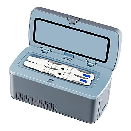 WDAA Mini Insulina Portátil Caso del Recorrido Caja del Refrigerador, Caja de Almacenaje de La Insulina, La Diabetes Mini Refrigerador, Pantalla LCD de Carga 2-8 ° C
