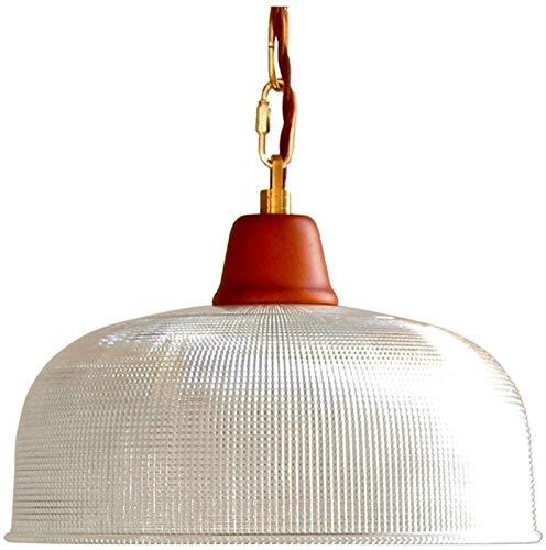 Lámparas de escritorio FHW Araña luz roja y Blanca Vidrio y Madera Retro Retro Simple Quemador de una Sola araña de araña Mesa de Comedor Altura lámpara de araña Ajustable