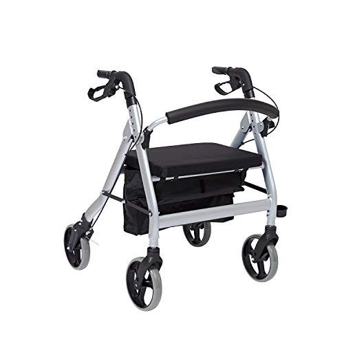CARELINE XXL-Leichtgewichtrollator Enorm+, faltbar, höhenverstellbar, Sitzbreite 56 cm, maximale Belastbarkeit 200 kg
