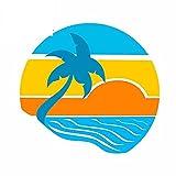 A/X 13cmx12.5cm para Palm y Sun Calcomanía Windows Van Personalidad Pegatinas de Coche Tabla de Surf
