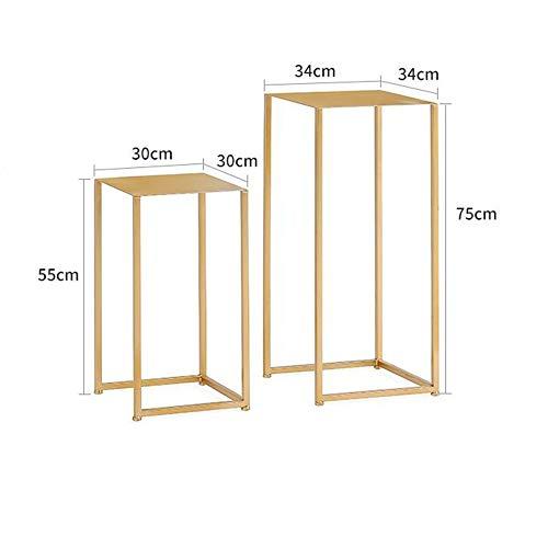 MEIDUO Tables Table d'appoint, tables gigognes Meta Table d'extrémité de table pour table de salon, design moderne, ensemble de 2 Bureau d'ordinateur (Couleur : Or)