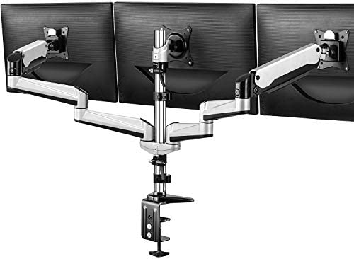 Triple Monitor Stand Full Motion Articulating Aluminum Gas Spring Monitor Mount Fit Three 17 product image