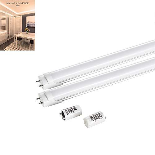 GsMeety T8 Luz de Tubo LED, Luminaria Lámpara de Techo LED 90 cm 14w 1200 Lumenes Tubo LED Integrado para Cocinas, Armarios, Trastero