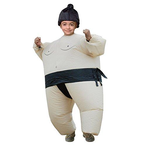 Hallowmax Kinder Unisex Sumo Ringer Aufblasbares Kostüm Halloween Karneval Fasching Verkleidung