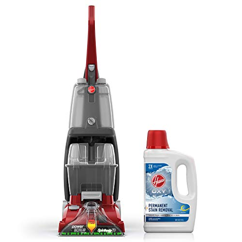 Review Of Hoover Power Scrub Deluxe Carpet Cleaner Machine with Oxy Carpet Cleaning Solution (50oz),...