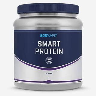 Body Fit Smart Protein Proteines poudre sans sucres ajoutes convenant aux regimes hypoglucidiques proteines Pot 1KG Gout  Vanille