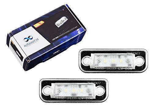 2 luces LED para matrícula KB26 W211 S211 R171 CLS C219 S203
