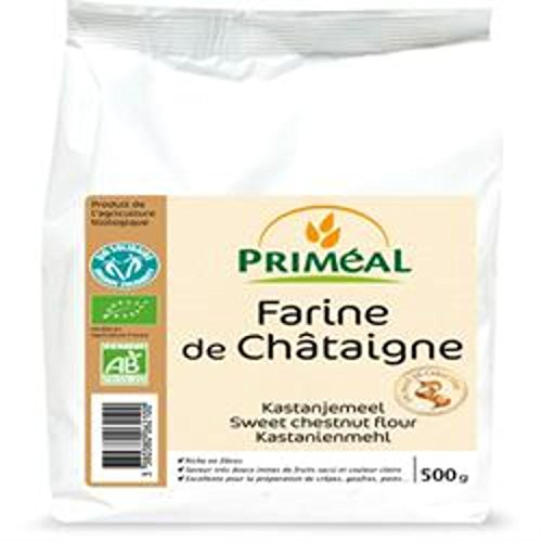 Farine de châtaigne Bio, Farine de Chataigne bio sans gluten, Châtaigne d'Ardèche | 500g | Priméal