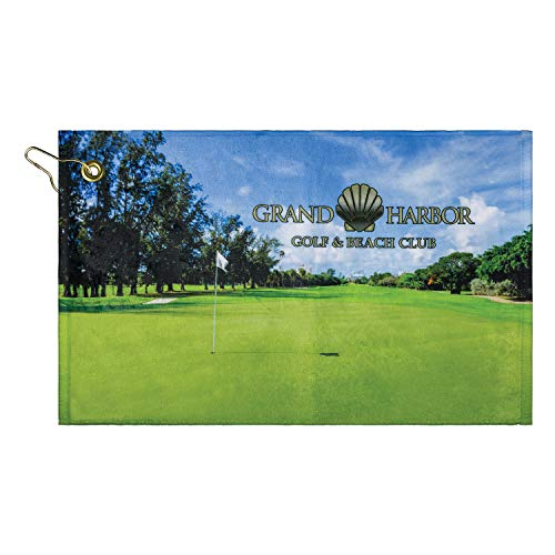 Custom Microfiber Personalized Golf Towel-11 X 18' - : Create Your own! Custom Photo Sports Towel, Upload Images, Text,...