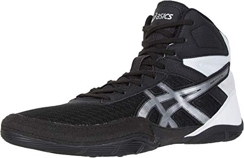 ASICS Men's Matflex 6 Wrestling Shoes, 11M, Black/Silver