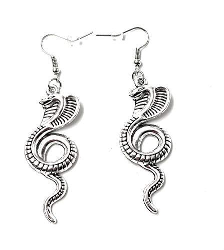 H-Customs Cobra Giftschlange Ohrschmuck Anhänger Silber aus Metall