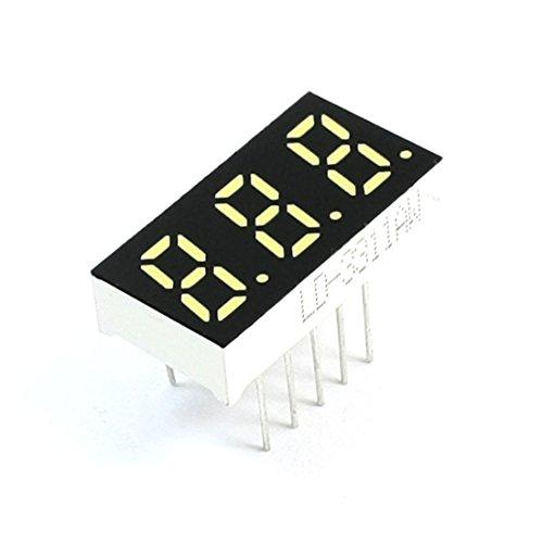 Aexit 3 bits 7 segmentos blanco Pantalla LED Tubo digital Cátodo (model: E4696VIX-9621FJ) común 21x11 mm