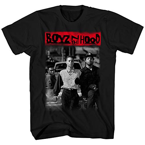 Boyz N The Hood Mens Shirt Poster Tee (Black, Medium)