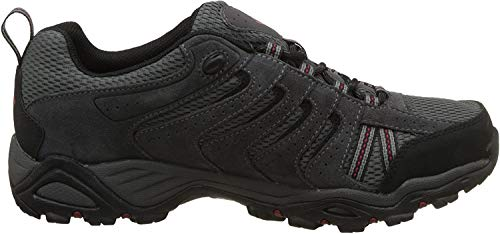 Columbia Men's North Plains II Waterproof Hiking Shoe, City Grey, Rocket, 9.5 D US