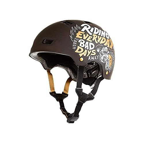 LYTBJ Casco de Bicicleta Casco de Bicicleta Cascos de Skate Se utilizan para Proteger la Cabeza Medio Casco Universal de Cuatro Estaciones Adecuado para Andar en patineta y Escalada en Roca