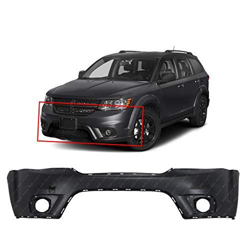 MBI AUTO - Primered, Front Upper Bumper Cover for 2011-2018 Dodge Journey w/Fog 11-18, CH1000A06